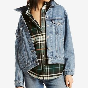 NWT Levi's Ex-Boyfriend Denim Trucker Jacket
